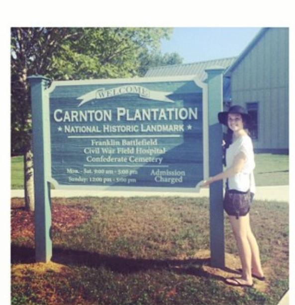 Hannah at the Carnton Plantation